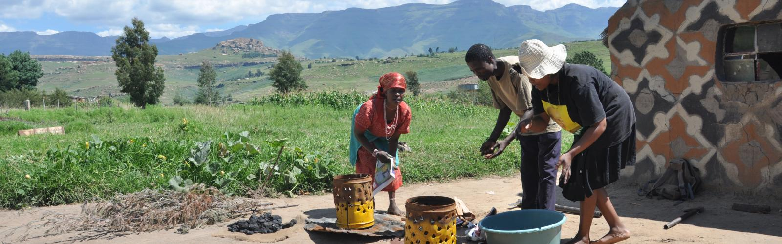 Basa Magogo cooking in South Africa